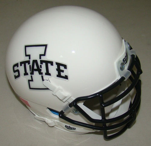 Iowa State Cyclones White w/ Black Mask Schutt Authentic Mini Football Helmet