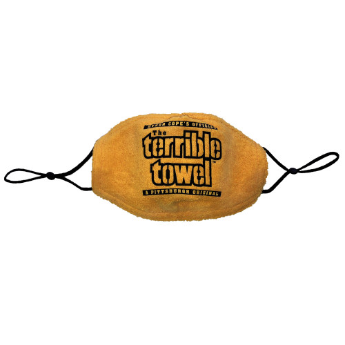 Pittsburgh Steelers Myron Cope's Terrible Towel Face Mask Fabric Face Cover Guard Mask Facemask