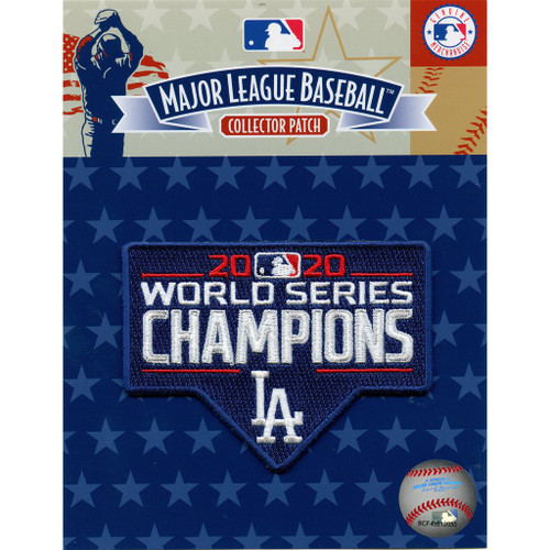 Los Angeles Dodgers MLB 2020 World Series Champions Collectors Patch in package