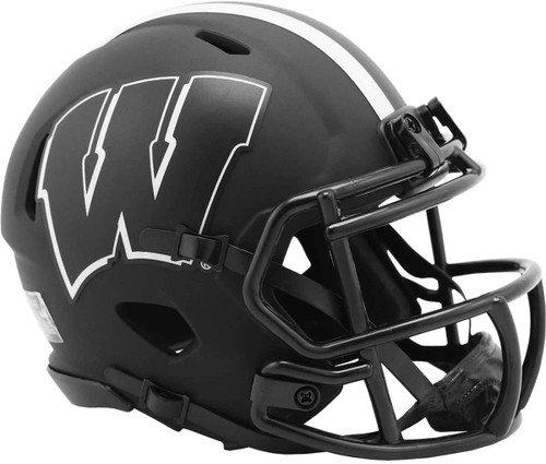Wisconsin Badgers 2020 Black Revolution Speed Mini Football Helmet