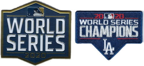 2020 MLB Los Angeles Dodgers World Series Champions EmbossTech Collectors 2 Patch Combo Set