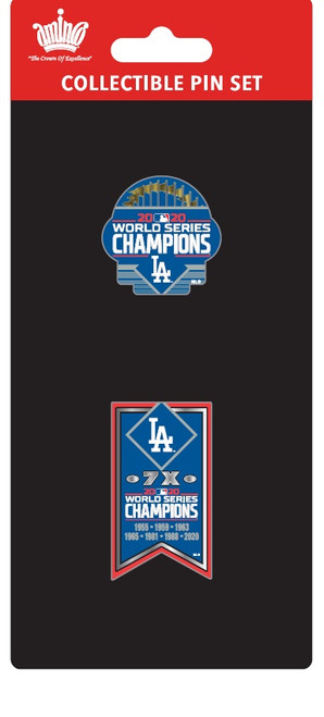 Los Angeles Dodgers 2020 World Series Champions Official Lapel Pin Set