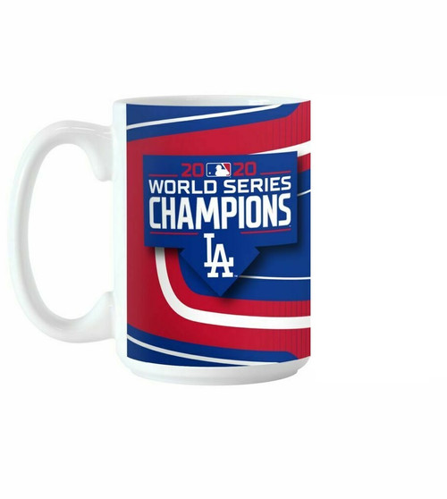 Los Angeles Dodgers 2020 World Series Champions 15 Ounce Sublimated Coffee Mug