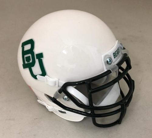 Baylor Bears White without Stripe Schutt Mini Authentic Football Helmet