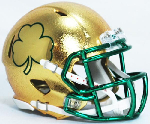 Notre Dame Fighting Irish Special Shamrock NCAA Riddell Speed Hydrofx Mini Helmet