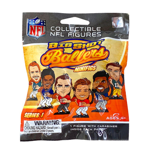 Party Animal NFL Big Shot Ballers Minifigs Series 1 Collectible Figurine Mystery Pack