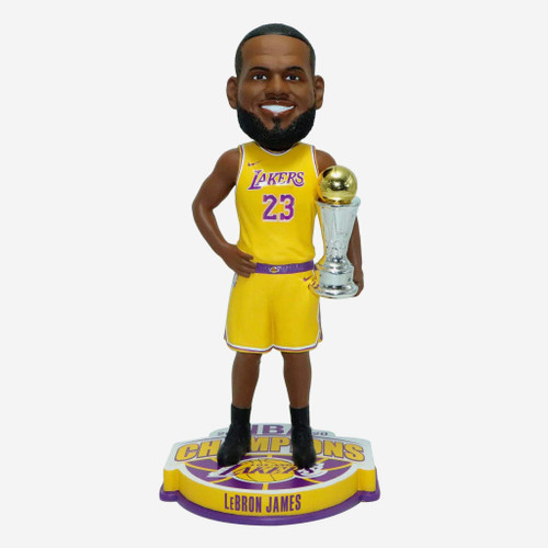 "Lebron James Los Angeles Lakers 2020 NBA Champions 10"" MVP Player Bobblehead Doll"