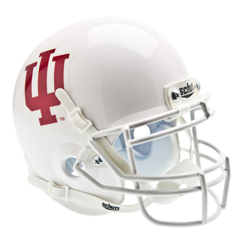 Indiana Hoosiers Alternate White Schutt Mini Authentic Helmet