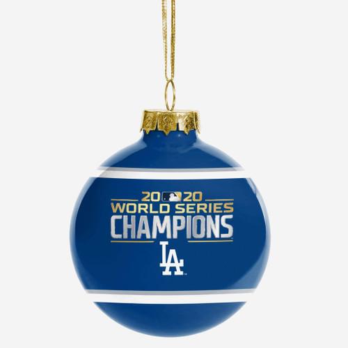 Los Angeles Dodgers 2020 World Series Champions Glass Ball Christmas Tree Ornament
