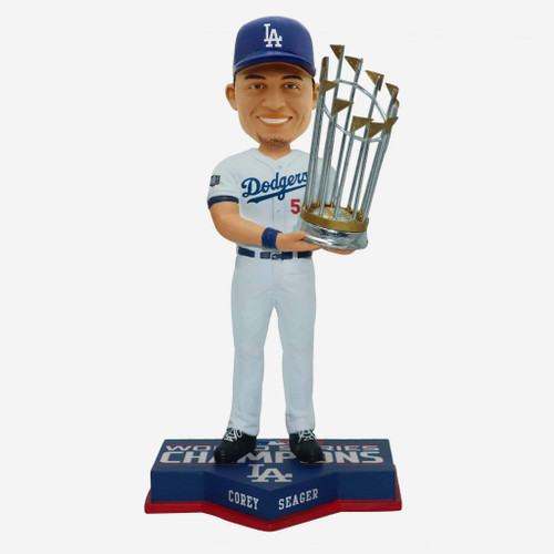 "Corey Seager Los Angeles Dodgers 2020 World Series Champions 8"" Bobblehead Bobble Head Doll"