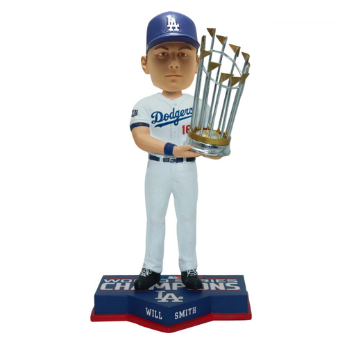 "Will Smith Los Angeles Dodgers 2020 World Series Champions 8"" Bobblehead Bobble Head Doll"