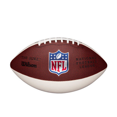 Wilson Offical 3 White Panel Autograph New NFL Football WTF1192ID