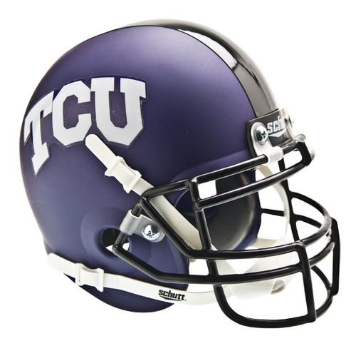 TCU Texas Christian Horned Frogs Alternate Matte Purple Schutt Mini Authentic Helmet