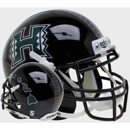 Hawaii Rainbow Warriors Alternate Islands Schutt Mini Authentic Football Helmet