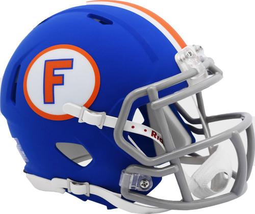 Florida Gators Matte Blue Throwback Limited Edition Revolution SPEED Mini Football Helmet
