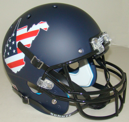 West Virginia Mountaineers State Flag Schutt Full Size Replica Football Helmet