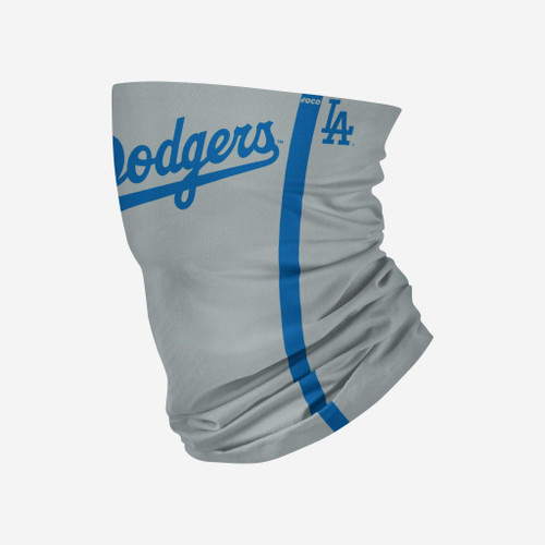 Los Angeles Dodgers MLB Road Gray Gameday Neck Gaiter Scarf Face Guard Mask Head Covering