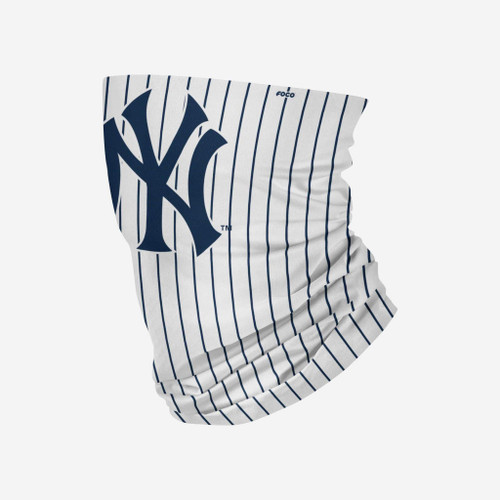 New York Yankees MLB White Pinstripe Gameday Neck Gaiter Scarf Face Guard Mask Head Covering