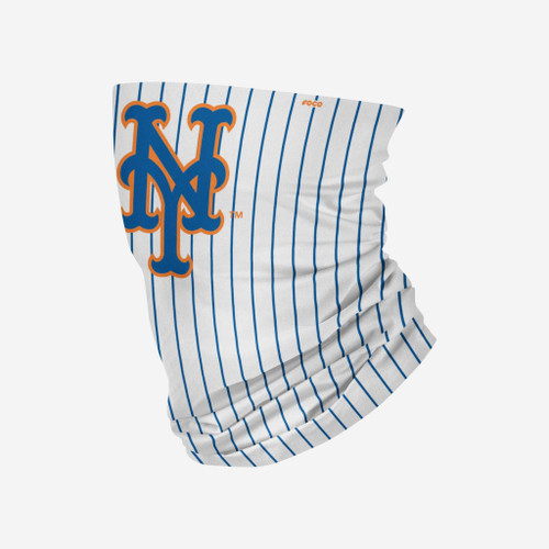 New York Mets MLB White Pinstripe Gameday Neck Gaiter Scarf Face Guard Mask Head Covering