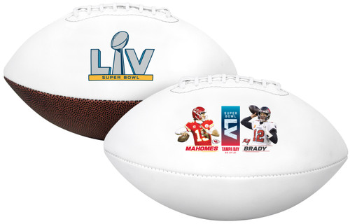 Super Bowl LV 55 Official Full Size Patrick Mahomes vs Tom Brady Dueling Football