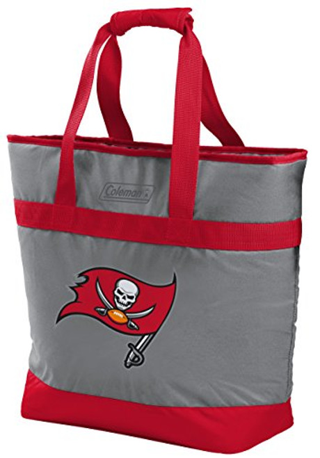 Tampa Bay Buccaneers NFL Soft-Side Insulated Large Tote Cooler Bag 30-Can Capacity