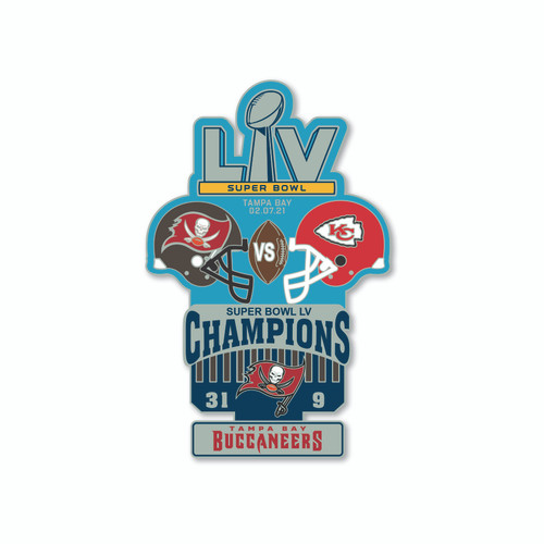 Super Bowl LV 55 Commemorative Historical Lapel Pin - Kansas City Chiefs vs. Tampa Bay Buccaneers