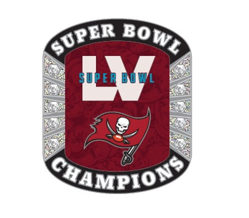 Super Bowl LV 55 Tampa Bay Buccaneers Champions Diamond Lapel Pin