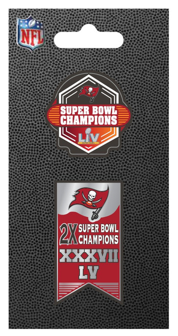 Tampa Bay Buccaneers Super Bowl LV 55 Champions Lapel 2-Pin Set