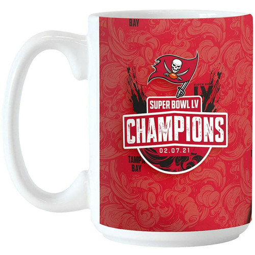 Tampa Bay Buccaneers Super Bowl LV 55 Champions Sublimated 15oz. Coffee Mug