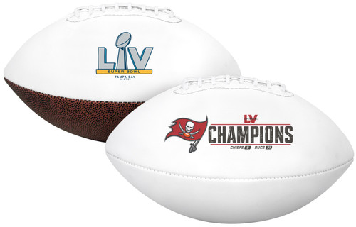 Super Bowl LV 55 Official Size Tampa Bay Buccaneers Championship Football in Box