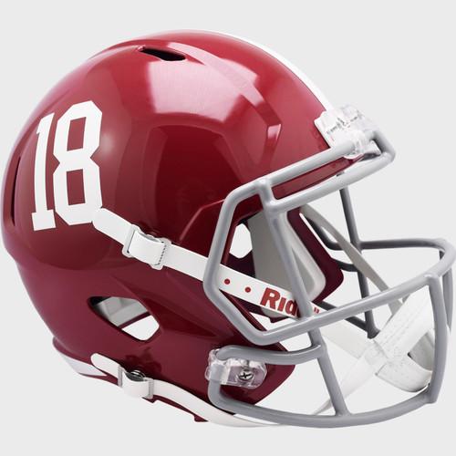 Alabama Crimson Tide #18 SPEED Riddell Full Size Replica Football Helmet