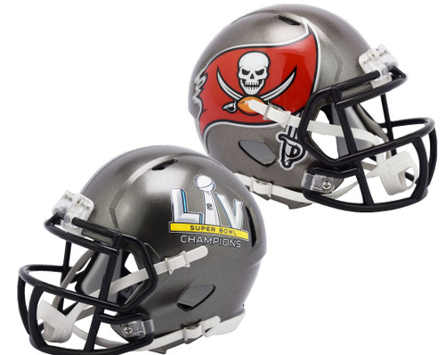 Tampa Bay Buccaneers Super Bowl LV 55 Champions Revolution Speed Mini Football Helmet