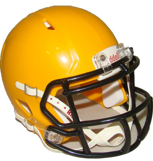 Green Bay Yellow Gold with Black Mask Blank Riddell Revolution SPEED Mini Football Helmet