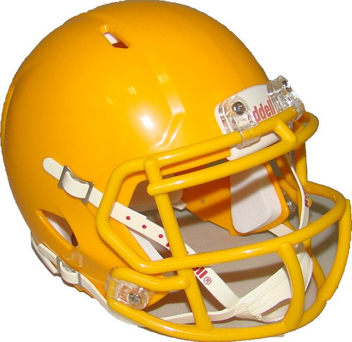 Green Bay Gold with Yellow Mask Blank Riddell Revolution SPEED Mini Football Helmet