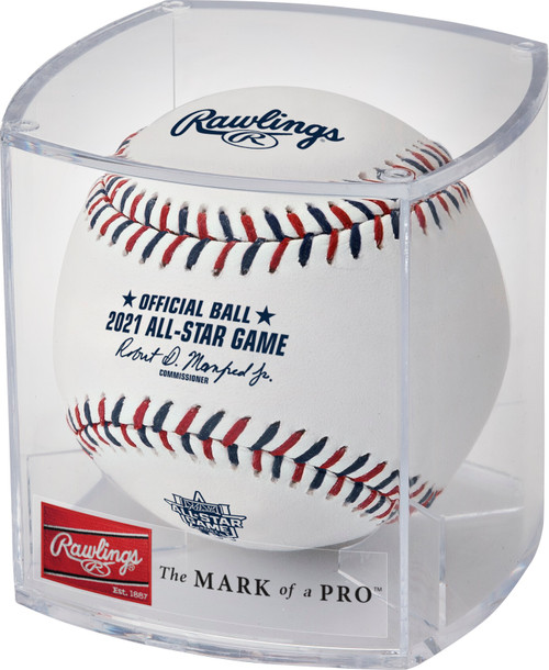 Rawlings 2021 MLB All‑Star Game Logo Baseball in Cube - Cubed Case