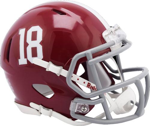 Alabama Crimson Tide #18 NCAA Riddell Speed Mini Football Helmet