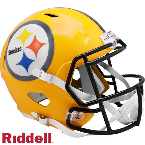 Pittsburgh Steelers Gold Throwback SPEED Riddell Full Size Replica Football Helmet