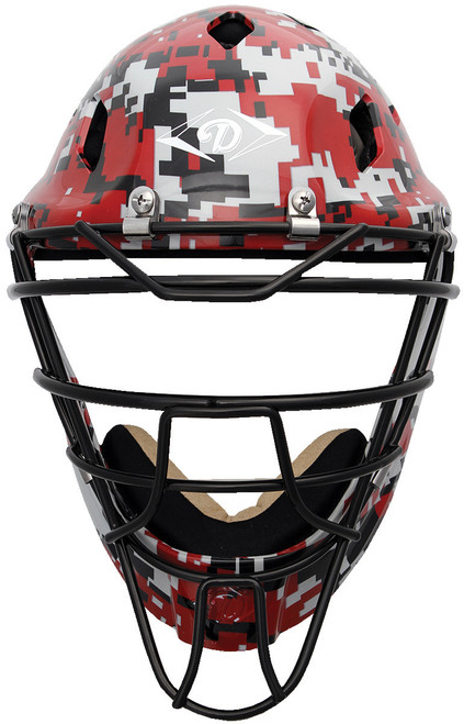 Diamond Edge PRO Hockey Style Catcher's Helmet Small Scarlet Camouflage