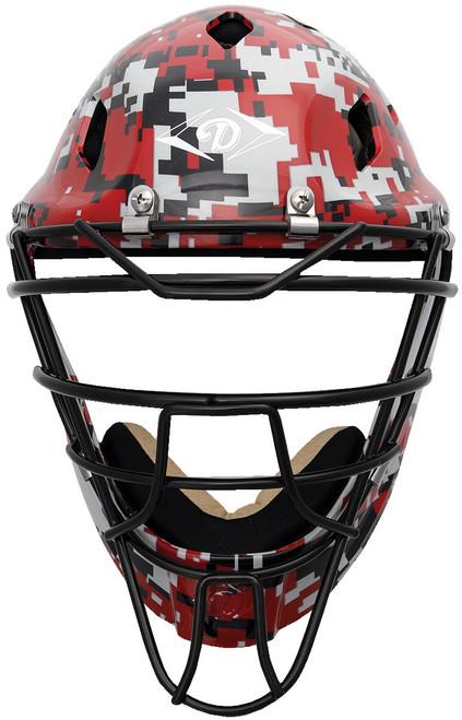 Diamond Edge PRO Hockey Style Catcher's Helmet Small Scarlet Camouflage