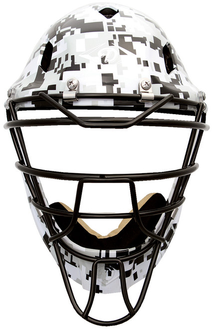 Diamond Edge PRO Hockey Style Catcher's Helmet Small White Camouflage
