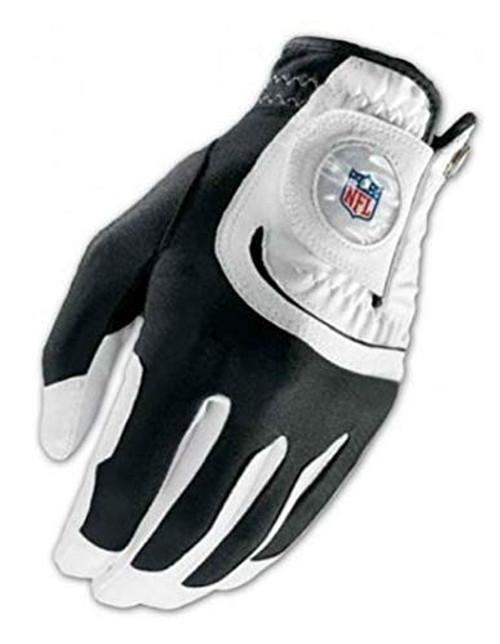 Wilson Staff NFL Fit All Men's White Golf Glove, One Size, Left Hand