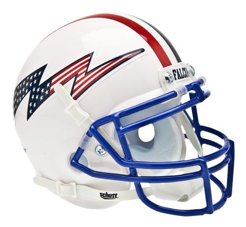 Air Force Falcons Alternate White Schutt Mini Authentic Helmet