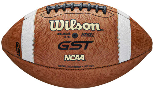 Wilson GST 1003 Official Size Leather Game Football (2021 Version) Collegiate and NFHS