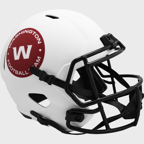 Washington Football Team White 2021 LUNAR Speed Replica Full Size Football Helmet