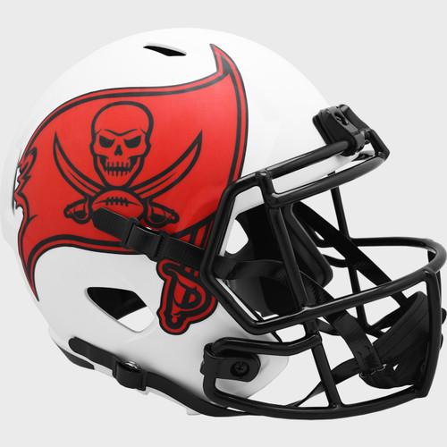 Tampa Bay Buccaneers White 2021 LUNAR Speed Replica Full Size Football Helmet