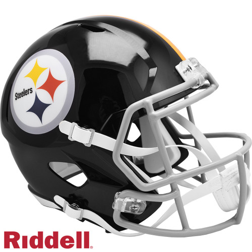 Pittsburgh Steelers 1963 to 1976 Throwback SPEED Riddell Full Size Replica Football Helmet