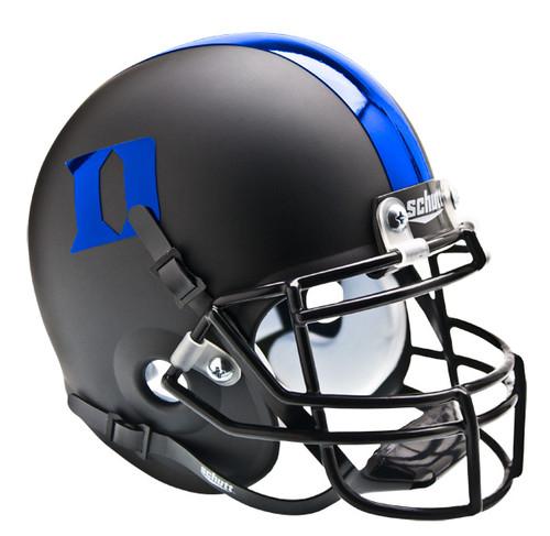 Duke Blue Devils Alternate Matte Black with Blue Schutt Mini Authentic Helmet