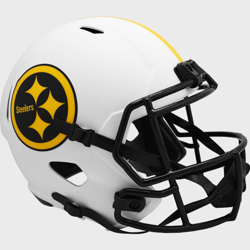Pittsburgh Steelers White 2021 LUNAR Speed Replica Full Size Football Helmet