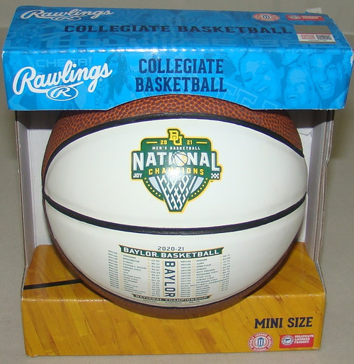 Rawlings Baylor Bears 2021 NCAA National Champions Mini Basketball in Box