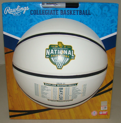 2021 NCAA Baylor Bears Champions Full Size Commemorative Basketball with Full Schedule